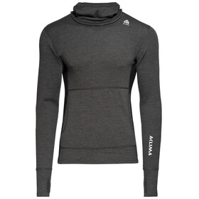 Aclima Warmwool Hood - camiseta interior hombre - negro